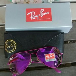 Brand New All Purple RayBan Aviators 58mm